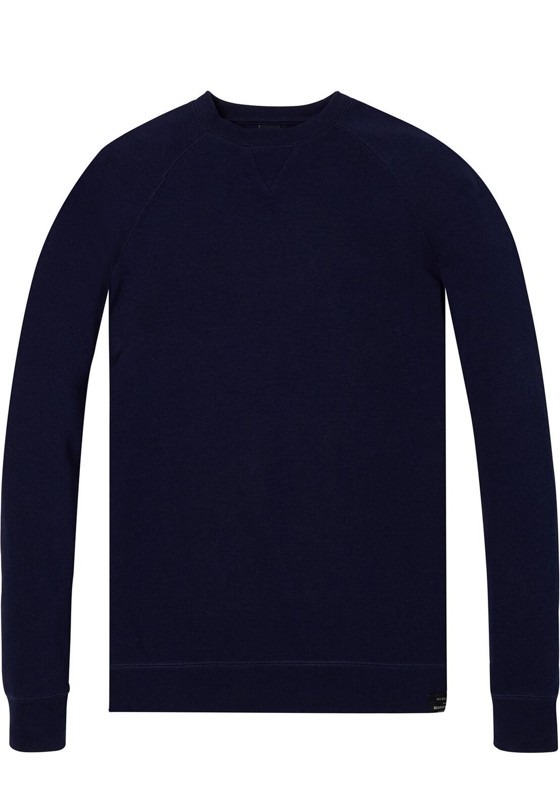 Scotch & Soda Basic Crewneck Sweater Men 142800 Denim Blau 0155 Blau