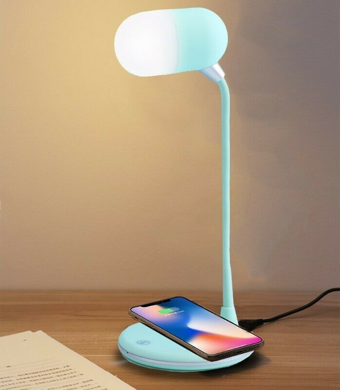 Polaroid LED Lamp with Bluetooth speaker and wireless charger