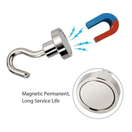 Hooks & Hangers 6Pcs 16MM Heavy Duty Magnetic Hooks Hanger Hold Neodymium Strong  Magnet LA9 Home & Garden vibranthns.lk