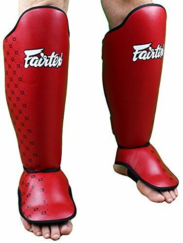 NEW Fairtex Competition Shin Guards  Red  Medium FREE SHIPPING