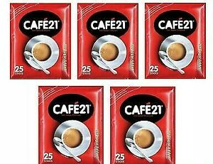 5 PACKS 125 STICK CAFE21 2IN1 INSTANT COFFEE MIX NO SUGAR ADDED EXPRESS SHIPPING