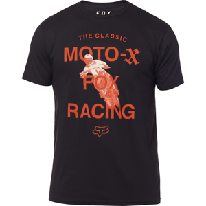 FOX RACING CASTR SS PREMIUM TEE T-SHIRT mx bike retro 90/'s motocross BLACK
