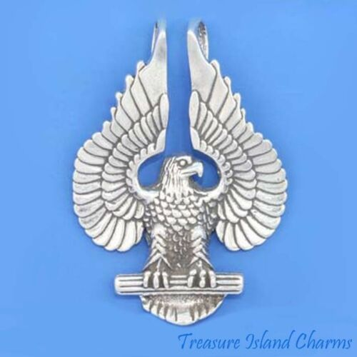 American Bald Eagle .925 argent sterling pendentif made in USA