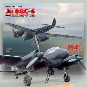 Neu WWII German Heavy Fighter ICM 48238-1:48 JU 88C-6