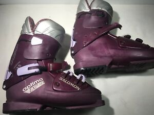 Salomon-Women-039-s-Purple-Optima-EXP-8-0-Ski-Boots-299mm-US-W-Size-9-5