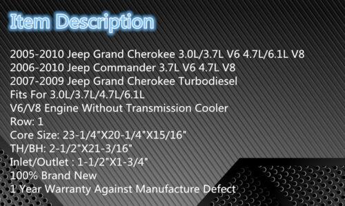 Commander V6//V8 2006 07 08 09 2839 Radiator For 2005-2010 Jeep Grand Cherokee