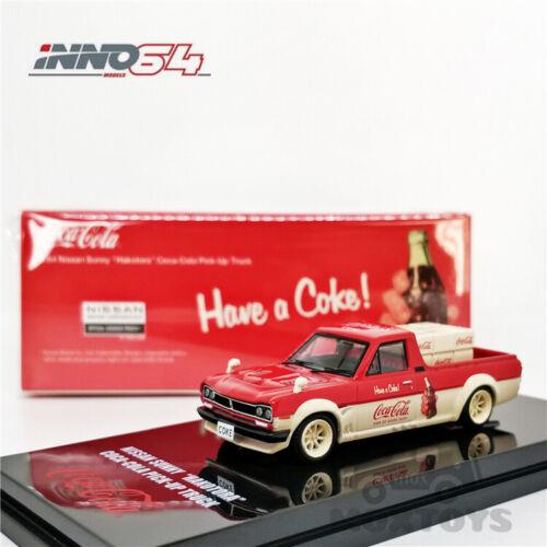 INNO64 1:64 Nissan Hakotora Cola Farmer Truck w//Accessories of cargo Model Car