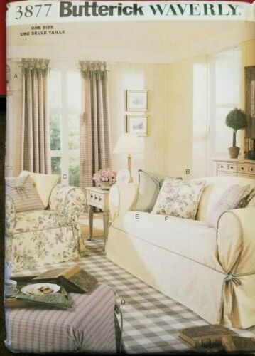 3877 DRAPES /& PILLOWS SLIPCOVERS BUTTERICK PATTERNS