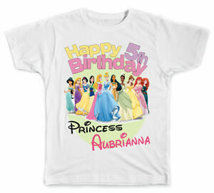 Image Is Loading Personalized Disney Princesses Birthday T Shirt