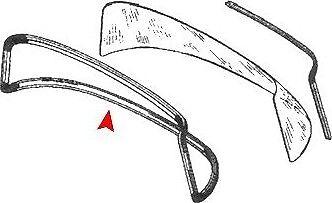 MERCEDES W108 Joint de lunette arrière 1086780040