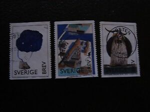 SUEDE-stamp-yvert-and-tellier-n-2014-2015-2016-obl-A29-stamp-sweden-U