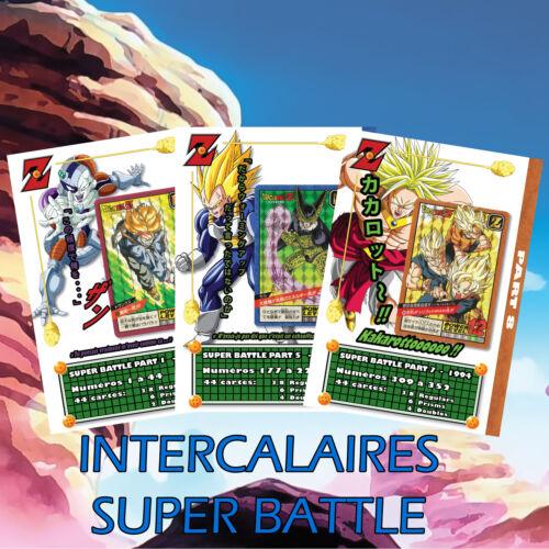 Full set 21 dividers//super battle power level Dragonball-DBZ sb pl