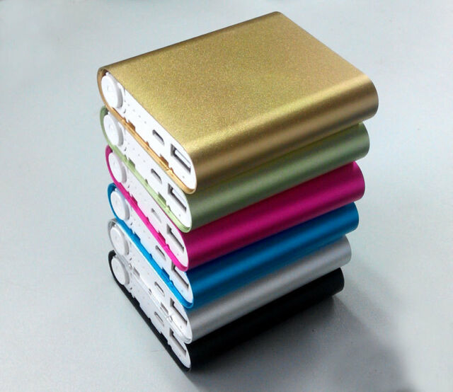 Aluminum alloy Power Bank Case Kit 4X18650 Battery Charger Box for Cell Phone