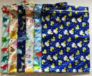 2-x-Large-Waterproof-Kids-Wet-Bag-30cm-x-40cm-for-Cloth-Nappies-Books-Swimmers