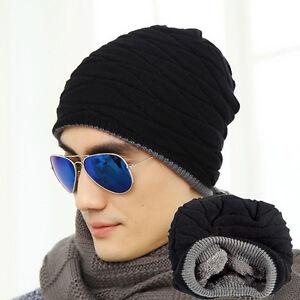 New winter hat Crochet Beanie hat Men women Knit Ski Cap Snowboard ... d3a24b0d790