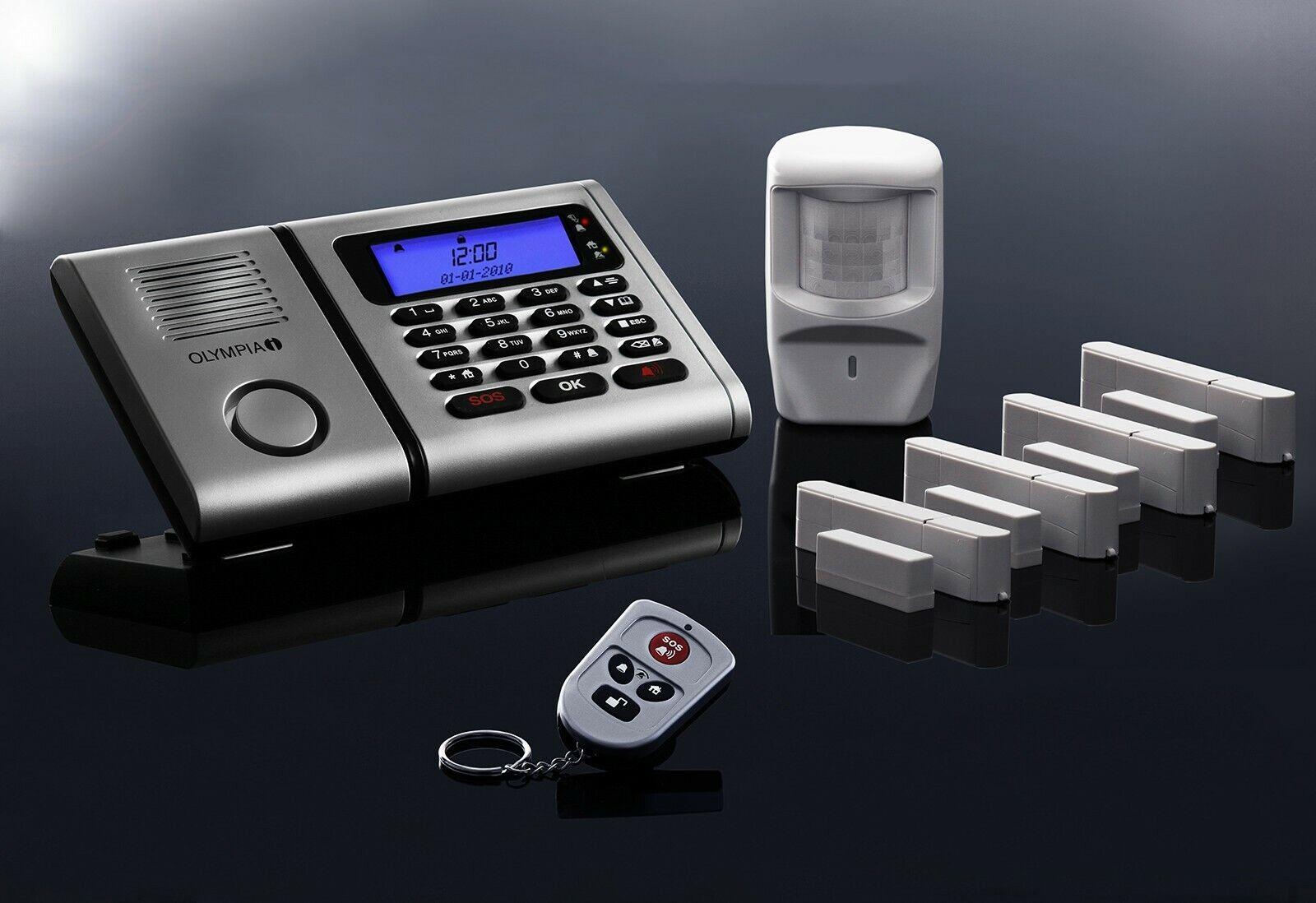 Premium Olympia Projoect 6061 Inalámbrico Casa Radio Juego de Sistema de Alarma