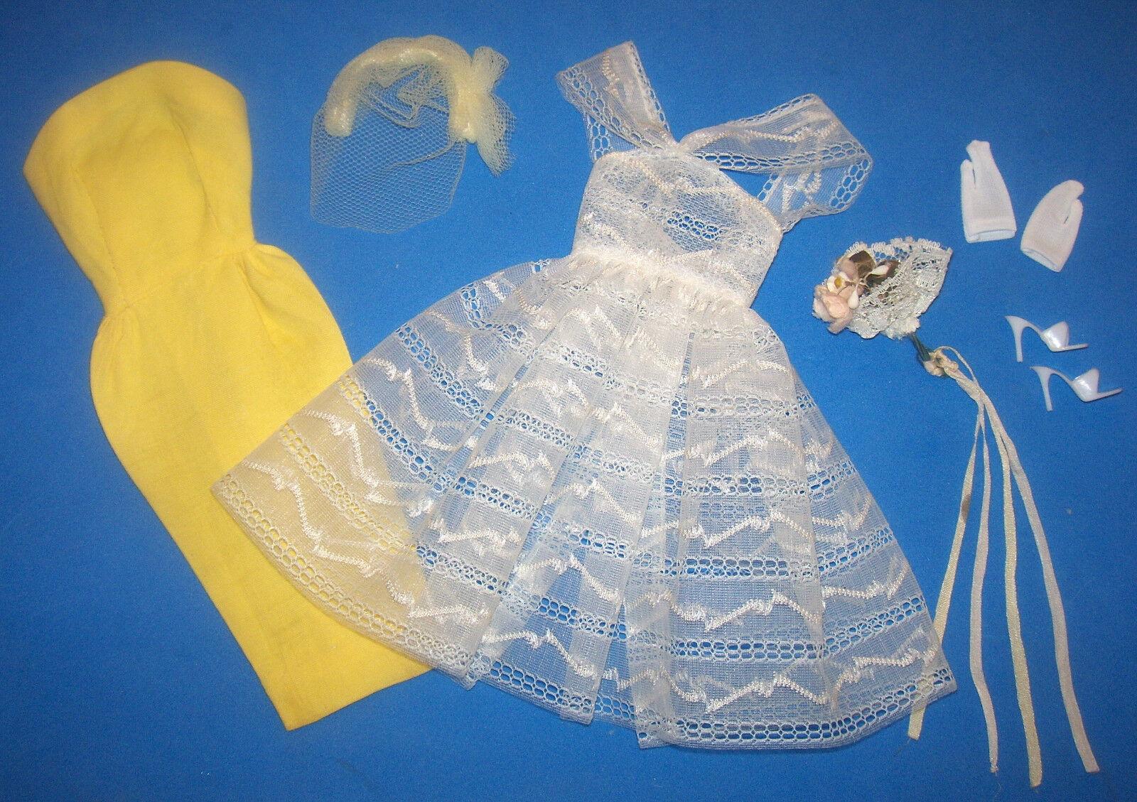Vintage Barbie Komplett Orangenblüten  987 1961-1964 Brautjungfer Kleid Outfit