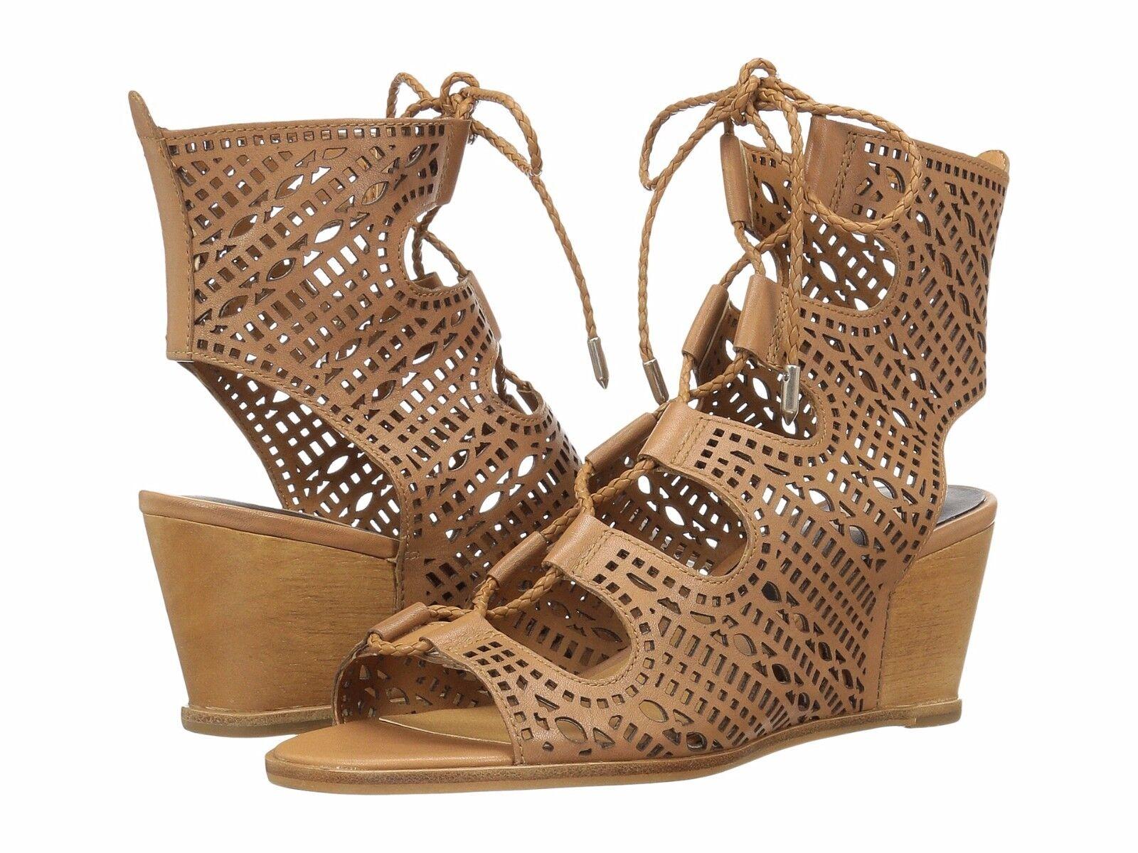 elementi di novità Donna  scarpe Dolce Vita Lamont Leather Leather Leather Lace Up Wedge Sandals Caramel New  acquistare ora