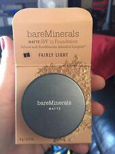 MATTE bareMinerals Bare_Escentuals SPF15 FAIRLY LIGHT N10 Foundation 6g  NIB