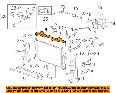 GM OEM Radiator-Upper Baffle 25837247