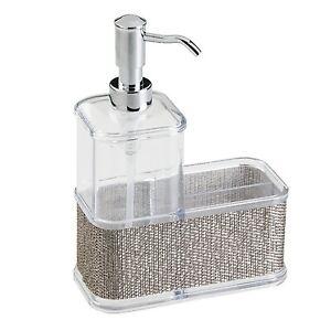 Image Is Loading InterDesign Twillo Kitchen Soap Dispenser Pump Sponge And