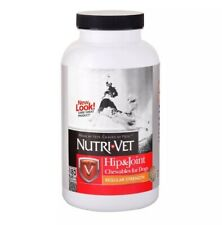 Nutri-Vet Hip & Joint Chewable Tablet for Dogs 180 Count Level1 Liver Chews