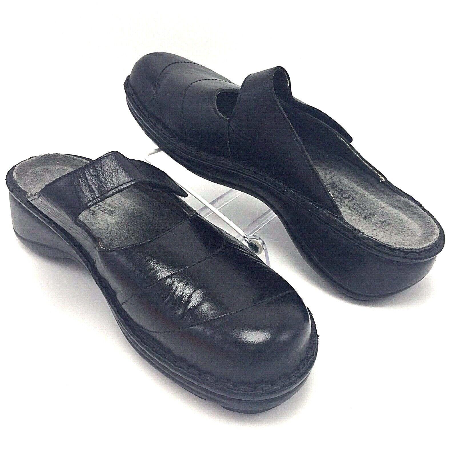divertiti con uno sconto del 30-50% Naot donna Leather Slides Sz 10 nero nero nero Mary Janes 41 Comfort scarpe Hook & Loop  migliore vendita