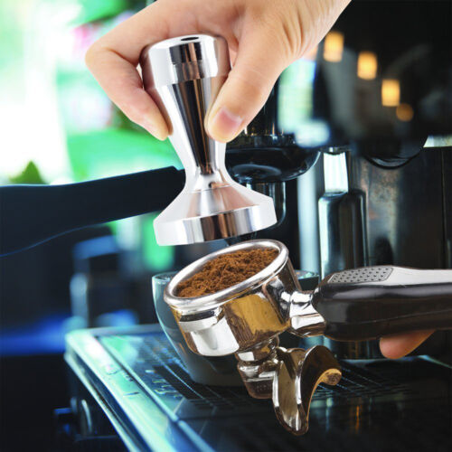 51//57.5mm Edelstahl Tamper Espresso Kaffee Stampfer Base Edelstahl Neu