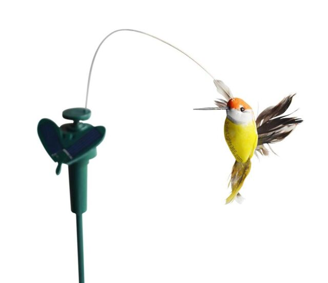 Solaration 7003 Solar Powered Fluttering Hummingbird Yard Stake Garden Decor