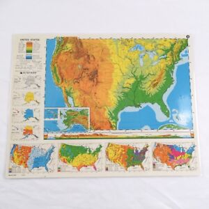 Details about Nystrom Laminated Political Map of United States 2HG1 Double  Sided 17\