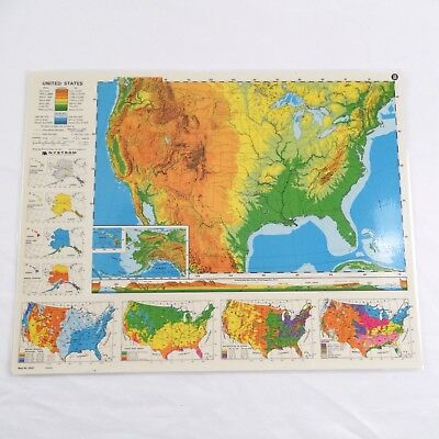 Nystrom Laminated Political Map of United States 2HG1 Double Sided 17\