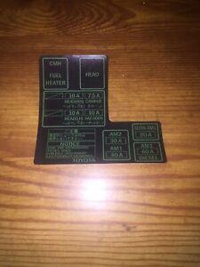 1984-1988 toyota pickup truck 4runner fuse box 22re/r decal sticker repro  10a v2 | ebay  ebay