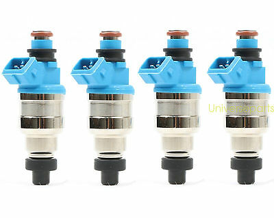 4 Fuel Injector 750cc For Honda B16 B18 B20 D16 D18 F22 H22 H22A VTEC Free Clips