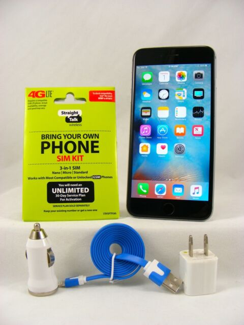 Apple iPhone 6 Plus-16GB Space Gray(Straight Talk/AT&T 4G LTE Nano SIM Card)