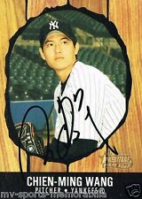 CHIEN-MING WANG SIGNED 2003 BOWMAN HERITAGE FIRST CARD ~AUTHENTIC/ JSA (SPENCE)