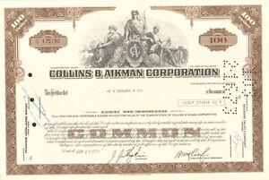 Collins-amp-Aikman-gt-automobile-parts-stock-certificate