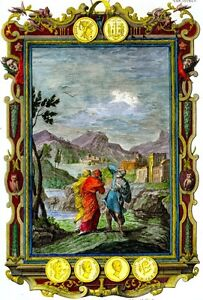 Scheuchzer-039-s-034-PHYSICA-SACRA-034-Hand-Colored-Engraving-1731-NO-FORTUNE-TELLERS