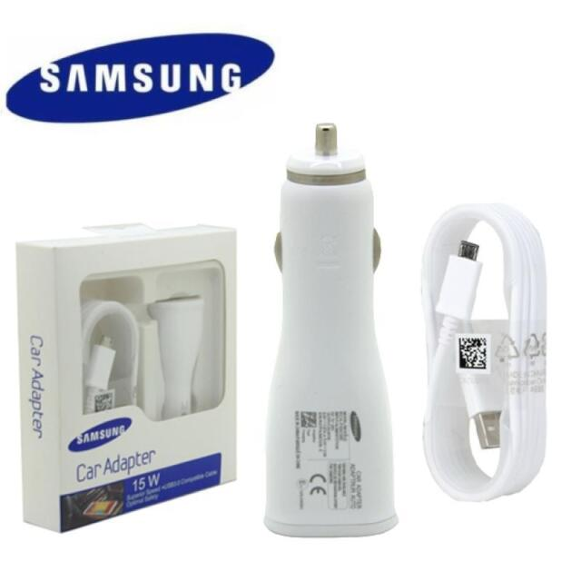 Original Samsung Galaxy FAST Car Charger + 1.5M USB Cable S6 S7/S7 Edge Note 4 5