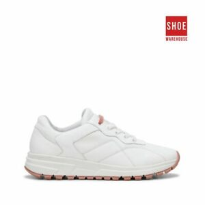 Hush Puppies CALIFORNIA White Womens Lace-up Sport/Athletic Leather Shoes