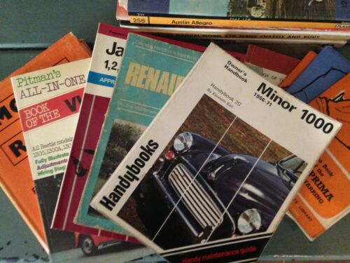 MISCELLANEOUS MOTORISTS GUIDES AND WORKSHOP MANUALS