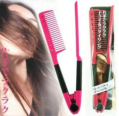 FD785 V DIY  COMB Salon Hairdressing Styling Hair Straightening Care Straighten#