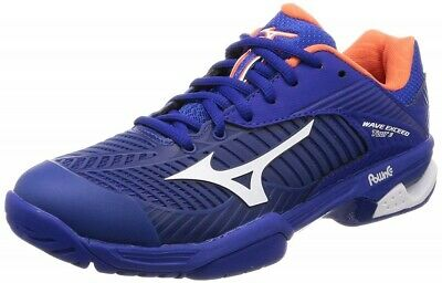 Navy Blue Red White Sports Mizuno Mens Wave Exceed Tour 3 AC Tennis Shoes