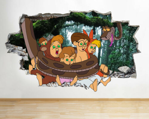 N237 Jungle Book Lost Boys Snake Smashed Wall Decal 3D Art Stickers Vinyl Room