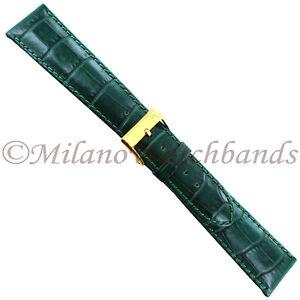 20mm-Morellato-Green-Crocodile-Grain-Stitched-Genuine-Leather-Mens-Band-Reg-1173