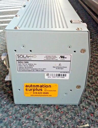SOLA SDU 500 INDUSTRIAL UPS 120VAC 300W 500VA NEW QUANTITY!!