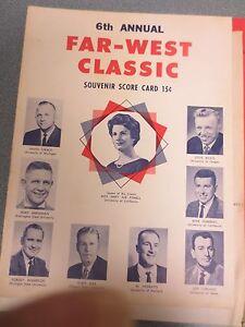 6th ANNUAL FAR-WEST CLASSIC BASKETBALL SOUVENIR SCORE CARD .15 CENT