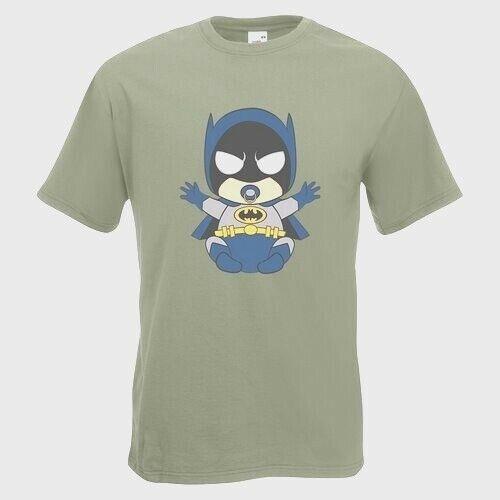 Baby Bat Mens PRINTED T-SHIRT Cartoon Batman Pacifier Hero