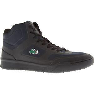 Details about Authentic LACOSTE Explorateur Men s Black High Top Trainers -  UK 9 10 - rrp £110 2f905c2a128