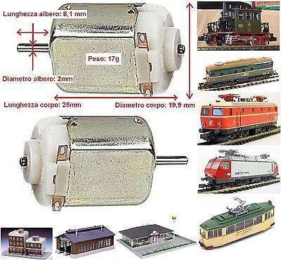 100% Vero Micro Motore 4,5-10vcc Asse Mm.2 Mm.25x19 Riparazione-motorizzazione Locomotori Facile E Semplice Da Gestire
