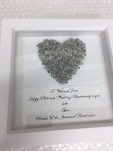 Anniversario Matrimonio Platino.Argento Platino Anniversario Di Matrimonio Scatola Regalo Telaio